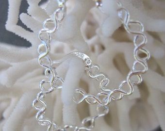 Curly Hoop Sterling Earrings