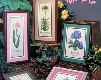 Cross My Heart FLORAL CLASSICS (Multiple Designs)  - Counted Cross Stitch Pattern Chart Booklet
