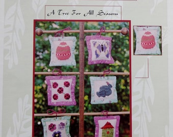 Judy Evans Thread Bear Creations A TREE For ALL Seasons Spring - Counted Cross Stitch Pattern Chart