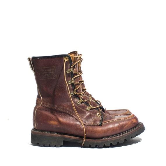 vintage herman survivor boots insulated raised moc toe