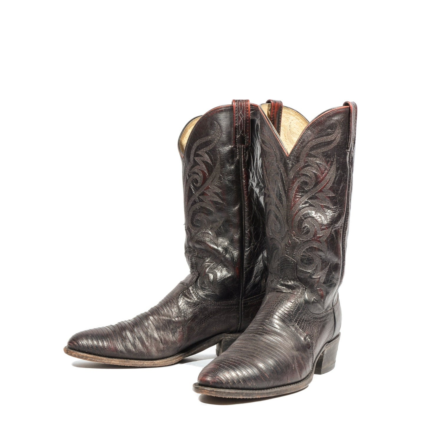 dan post oxblood lizard cowboy boots western fashion boot