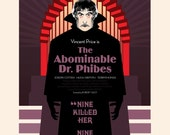 """Vincent Price - The Abominable Dr. Phibes - 17 x 11"""" Digital Print"""