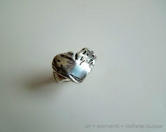 Strength - Ring OOAK Fine Silver - Size 9, 10, 11