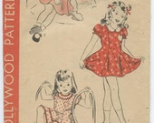 1940s Hollywood 848 Child's One-Piece Dress and Pantie Vintage Sewing Pattern Size 2 Breast 21