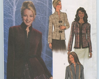 Butterick 4028 Fitted Princess Seamed Lined Hip Length Jacket Size 12, 14, 16 UNCUT