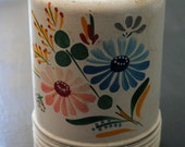 Vintage Enamelware Tole Container