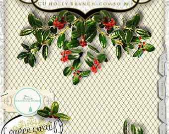 Digital Holly and Berry by Papier Creatif CU OK