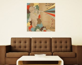 "Imaginative Collage Art Wall Sticker by Hollie Chastain - ""Future"""