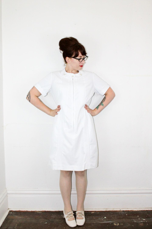 White Nursing Uniform Dresses 12