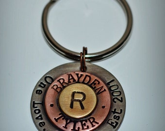 Personalized Key Chain Handstamped Gift