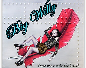 Big Willy - William Shakespeare - Original Art By Sku Style  - Signed Limited Canvas Print