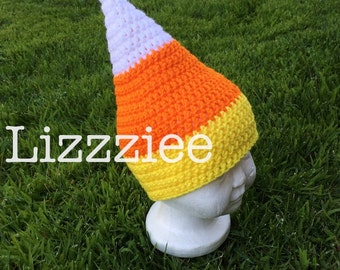 Candy Corn Crochet Hat PATTERN PDF Halloween - Instructions to make super cute, easy hats - newborn to adult - Instant Digital Download