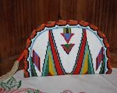 Vintage Hand Beaded Clutch Native American Deer Skin