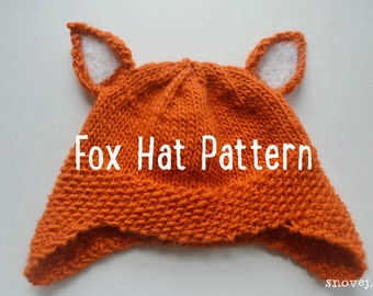 PATTERN Knitted Woodland Fox Hat