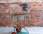 Upcycled Industrial Bar Cart