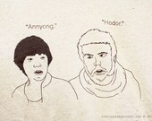 Annyong / Hodor / Hello Unisex Tee -- Arrested Development / Game of Thrones