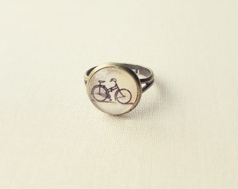 Bicycle Ring. Travelling Ring. Adjustable Glass Ring.