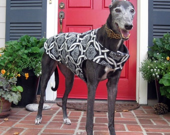 Custom Fleece Greyhound Dog Coat & Jacket, XL Dog Coat, Sighthound Coat, Big Dog Coat, Choose Your Fabric