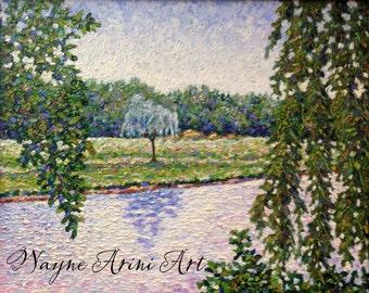 Impasto Oil Painting -  Impressionist Landscape - 16 x 20 Painting - Frankenmuth Michigan