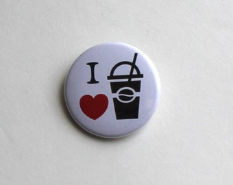 I Heart Coffee | Button, Magnet, Keychain | Love Caffeine