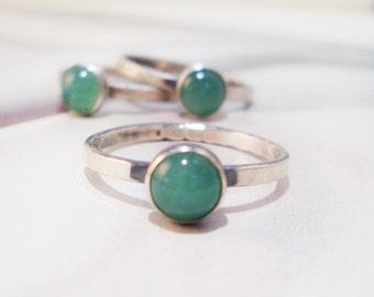 Aventurine Ring // Sterling Silver
