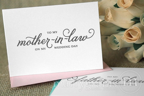 Wedding Day Gift For Bride From Mother In Law : ... the Bride or Groom Cards - Parents-In-Law Gift Idea Wedding Day CS05