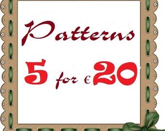 5 pattern savings pack