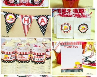 Movie Night Birthday Party Ready To Go Package  Printable DIY Package