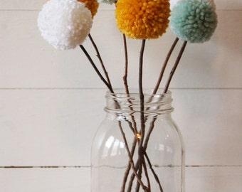 Yarn Pom Pom Bouquet