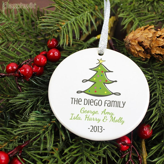 Items similar to personalized family name christmas for Custom christmas tree ornaments