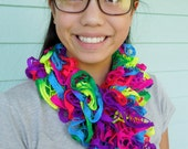 Ruffle Scarf is an Awesome Blast of Color for your Fall Fashion Wardrobe