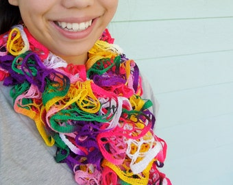 Scarf is Colorful and Ruffled