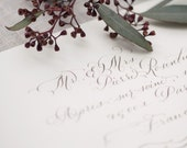 Hand Calligraphy Envelope Addressing - Vintage Style Lettering - Perfect for Wedding Invitations - Flourished