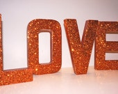 3D Photo Props - LOVE - Self Standing Glittered LOVE letters