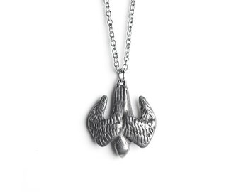 Falcon Necklace - March / April Birth Totem Jewelry - Aries