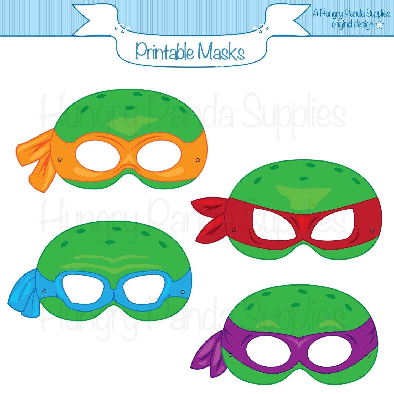 It is a photo of Clean Ninja Turtle Printable Masks