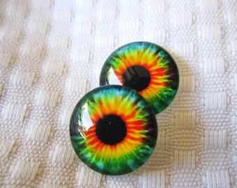 Glass eyes 20mm cabochons