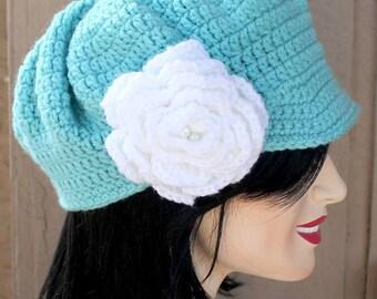 Crochet Slouchy Newsboy Hat, newsboy hat, crochet newsboy hat, teen newsboy hat, adult newsboy hat, adult crochet hat, teen crochet hat,
