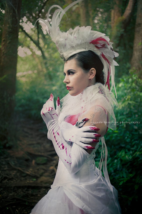"Customizable Feather Mohawk / Headdress - ""The Vampire Queen"""