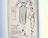 1950s Dress Pattern Mad Men Style Vintage Original Sewing Pattern Bestway E2650 Bust 36 Inches