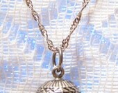 Vintage Sterling Silver Harmony Ball Pendant with Sterling Silver Chain