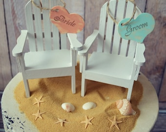 Beach Wedding Cake Topper Adirondack