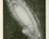Vintage 1910 Antique GAS CLOUD stars astronomy constellations -  planets saturn stars moon sun earth jupiter