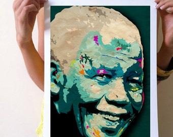 GICLÉE ART PRINT:  - Nelson Mandela home decor wall art