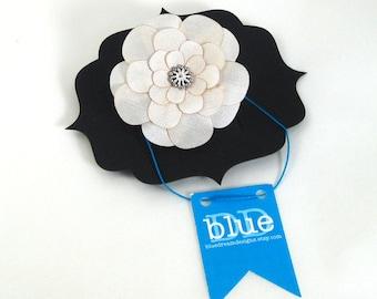 Ivory Silk Button Flower Pin/Clip