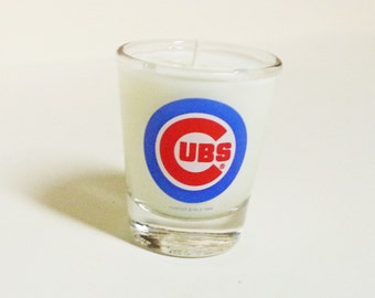 Chicago Cubs Soy Candle - Shot Glass Candle - CHOICE OF SCENT