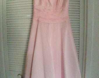 Soft Pink GOWN/COCKTAIL VINTAGE/Dress/Size 10/Balloon Hem/Tafata