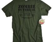 Zombie shirt Zombie Outbreak Response Team tshirt men youth geek shirt dead kill zombies undead tee shirt horror husband boyfriend