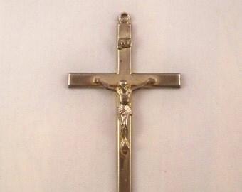 Vintage Large Cross with Jesus Pendant