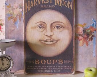 Harvest Moon Sign/Print for Dollhouse